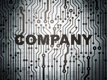 Finance concept: circuit board with Company Royalty Free Stock Photography