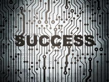 Finance concept: circuit board with Success Royalty Free Stock Photo