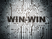Finance concept: circuit board with Win-Win. Finance concept: circuit board with  word Win-Win, 3d render Royalty Free Stock Image
