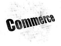 Finance concept: Commerce on Digital background. Finance concept: Pixelated black text Commerce on Digital background Royalty Free Stock Photo
