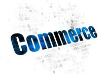Finance concept: Commerce on Digital background. Finance concept: Pixelated blue text Commerce on Digital background Royalty Free Stock Photography