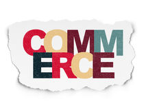 Finance concept: Commerce on Torn Paper background. Finance concept: Painted multicolor text Commerce on Torn Paper background Royalty Free Stock Photo