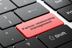 Finance concept: Partner Relationship Management on computer keyboard background. Finance concept: computer keyboard with word Partner Relationship Management Royalty Free Stock Image