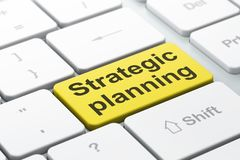 Finance concept: Strategic Planning on computer keyboard background. Finance concept: computer keyboard with word Strategic Planning, selected focus on enter Stock Photography