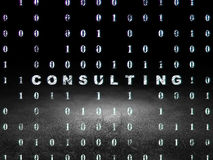 Finance concept: Consulting in grunge dark room Stock Photos