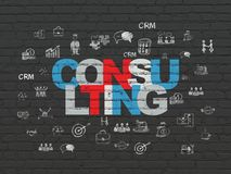 Finance concept: Consulting on wall background Stock Images