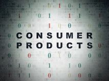 Finance concept: Consumer Products on Digital Data Paper background. Finance concept: Painted black text Consumer Products on Digital Data Paper background with Royalty Free Stock Photo