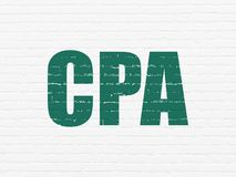 Finance concept: CPA on wall background Royalty Free Stock Image