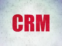 Finance concept: CRM on Digital Data Paper background. Finance concept: Painted red word CRM on Digital Data Paper background Stock Photography