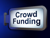 Finance concept: Crowd Funding on billboard. Finance concept: Crowd Funding on advertising billboard background, 3d render Royalty Free Stock Photos