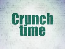 Finance concept: Crunch Time on Digital Data Paper background Stock Photo