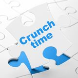 Finance concept: Crunch Time on puzzle background Stock Image