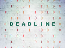 Finance concept: Deadline on Digital Data Paper background. Finance concept: Painted green text Deadline on Digital Data Paper background with Binary Code Royalty Free Stock Photo