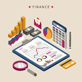 Finance concept design. Finance concept in 3d isometric flat design Stock Photography