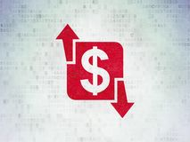 Finance concept: Finance on Digital Data Paper background. Finance concept: Painted red Finance icon on Digital Data Paper background Royalty Free Stock Photography