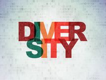 Finance concept: Diversity on Digital Data Paper background Royalty Free Stock Photography