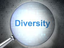 Finance concept: Diversity with optical glass royalty free illustration