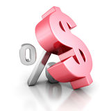 Finance Concept Dollar Currency And Percent Symbols. 3d Render Illustration Royalty Free Stock Photos