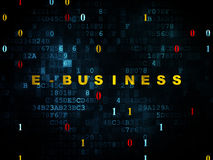 Finance concept: E-business on Digital background Stock Image