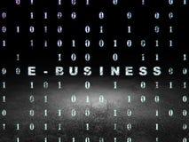 Finance concept: E-business in grunge dark room Stock Photos