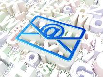 Finance concept: Email on alphabet background Royalty Free Stock Photos