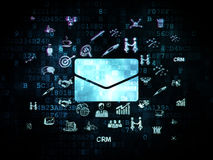 Finance concept: Email on Digital background Royalty Free Stock Image