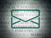 Finance concept: Email on Digital Paper background Royalty Free Stock Photography