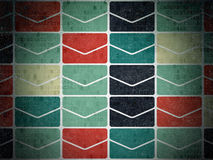 Finance concept: Email icons on Digital Paper Royalty Free Stock Photos