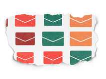 Finance concept: Email icons on Torn Paper Stock Photos