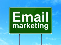 Finance concept: Email Marketing on road sign Stock Images
