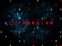 Finance concept: Enterprise on Digital background Stock Photo