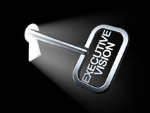 Finance concept: Executive Vision on key. In keyhole, 3d render Stock Photo