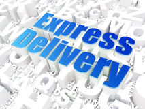 Finance concept: Express Delivery on alphabet Royalty Free Stock Photos