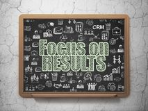 Finance concept: Focus On Results on school board background Stock Images