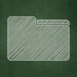 Finance concept: Folder on chalkboard background Stock Image
