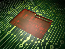 Finance concept: Folder on circuit board Royalty Free Stock Photos