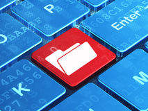 Finance concept: Folder on computer keyboard background Stock Photography
