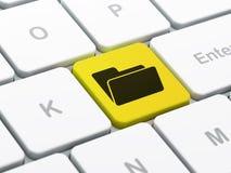 Finance concept: Folder on computer keyboard background Stock Images