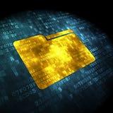 Finance concept: Folder on digital background Royalty Free Stock Images