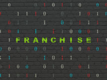 Finance concept: Franchise on wall background Stock Image