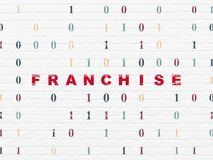 Finance concept: Franchise on wall background Stock Photography