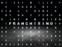 Finance concept: Franchising in grunge dark room Royalty Free Stock Photo