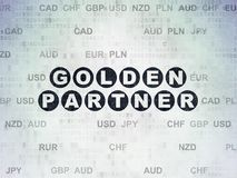 Finance concept: Golden Partner on Digital Data Paper background. Finance concept: Painted black text Golden Partner on Digital Data Paper background with Stock Images