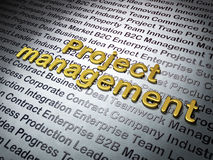 Finance concept: Golden Project Management on. Business background, 3d render Stock Photography
