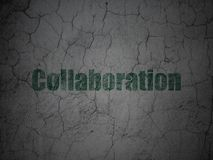 Finance concept: Collaboration on grunge wall background. Finance concept: Green Collaboration on grunge textured concrete wall background Stock Images