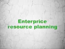 Finance concept: Enterprice Resource Planning on wall background Royalty Free Stock Photos