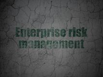 Finance concept: Enterprise Risk Management on grunge wall background. Finance concept: Green Enterprise Risk Management on grunge textured concrete wall Stock Photo