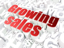 Finance concept: Growing Sales on alphabet. Background, 3d render Royalty Free Stock Image