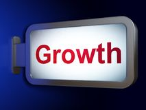 Finance concept: Growth on billboard background. Finance concept: Growth on advertising billboard background, 3D rendering Royalty Free Stock Images