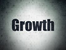 Finance concept: Growth on Digital Data Paper background. Finance concept: Painted black word Growth on Digital Data Paper background Royalty Free Stock Photography